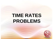 Problem in Rate of time
