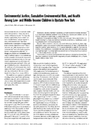 Environmental Justice, Cumulative Environmental Risk, and Health Among Low- and Middle-Income Childr