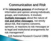 risk and communication