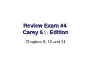 Review 3331 Exam 4 Carey