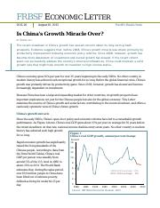 Is China_s Growth Miracle Over