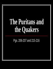 The Puritans and the Quakers.ppt