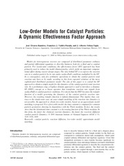 Low-Order Models for Catalyst Particles: A Dynamic Effectiveness Factor Approach