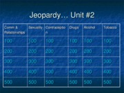 Jeopardy unit 2