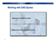 Working with SAS Syntax