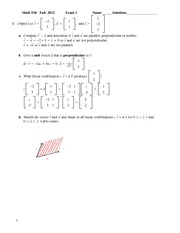 Exam 1 Solution Fall 2012