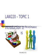 LAW220+Topic+1+-Introduction to Business Organisations.ppt