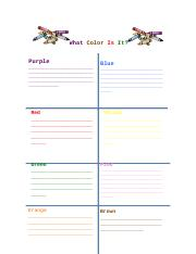 What Color Is It Data Sheet-