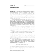 26. Factor Markets - Solutions
