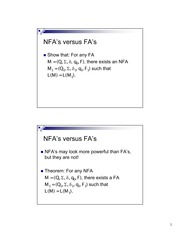 Computer Science 252_Adams_Lecture Notes on NFA, DFA and Kleene's Theorem