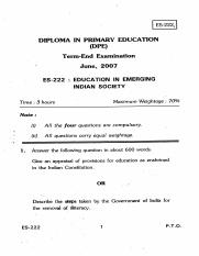 (www.entrance-exam.net)-Education in Emerging Indian Society Sample Paper 7.pdf