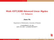 Lecture 1.3 on Advanced Linear Algebra