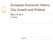 Lec 22_Mar19 City Growth in Absolutist States