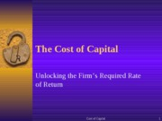 Cost of Capital (1)