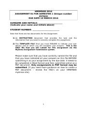 HMEMS80 2014 SEMESTER 1 and 2 ASSIGNMENT 01 TEMPLATE FILE.doc