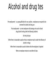 Alcohol and drug tes.pptx