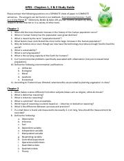 AP_Env_Chapter_1_2__3_Study_Guide