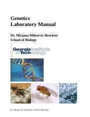 Genetics_Lab_Manual,_Dr. Mirjana Brockett_Spring 2015_revised