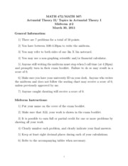Math 472 Spring 2011 Midterm 2 Solutions