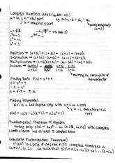 Properties of Complex Numbers and Logarithmic Properties Study Guide