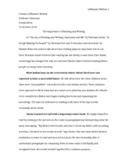 Composition Essay 1