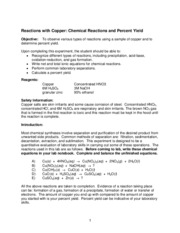 CHM 151 Reactions with Copper Procedure & Reactions.pdf