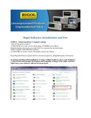 RigolSoftware_Install and Use