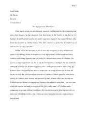 catcher essay