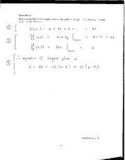 Test #1: Limits and Partial Derivatives (Solutions)