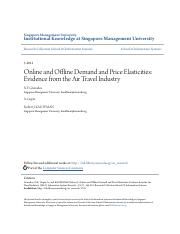 Online and Offline Demand and Price Elasticities- Evidence from t