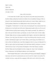 second term essay