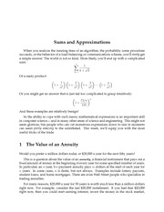 Sums and Approximations