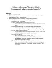 McKinsey Article Assignments - Team Assignment(1)