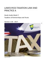 LAWS19033_09_2017_Taxation of Partnerships and Trusts v1.01e.docx