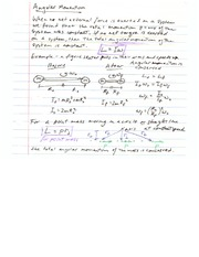 Lecture on Angular Momentum