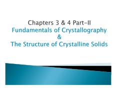 MEC 300-Materials Science Chapter 3 and 4 Part 2