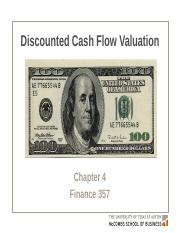 Chapter 4. Discounted Cash Flow Valuation