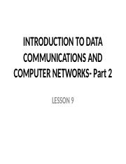10  INTRODUCTION TO DATA COMMUNICATIONS AND COMPUTER