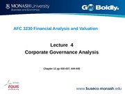 Lecture 4 AFC3230 Corporate Governance Analysis