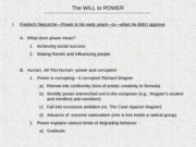 Power Lecture 5_Will to Power