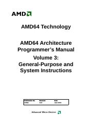 AMD64 Architecture Programmer's Manual - Volume 3 - General-Purpose and System Instructions (24594,