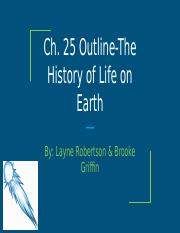 Ch.25-The History of Life on Earth
