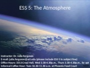 ESS 5 Earth Atmosphere lecture 1