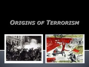 Lesson 3 History and Internationalization of Terrorism