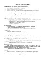 03 Chapter 3 Notes  (Criminal Justice)