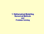 01-Math Models, Num Methods, Prob Solving