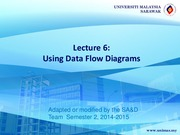 Lecture 6: Using Data Flow Diagrams