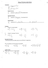 MPM 1D Fractions Review Solutions
