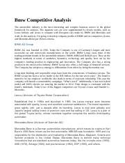 Bmw Competitive Analysis.docx