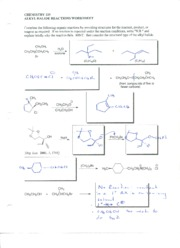 01 alkyl halide reactions worksheet key